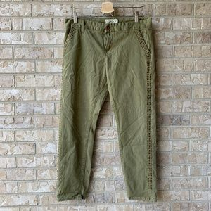 Lucky Brand Sienna Chino Pant Studded Green 8/29